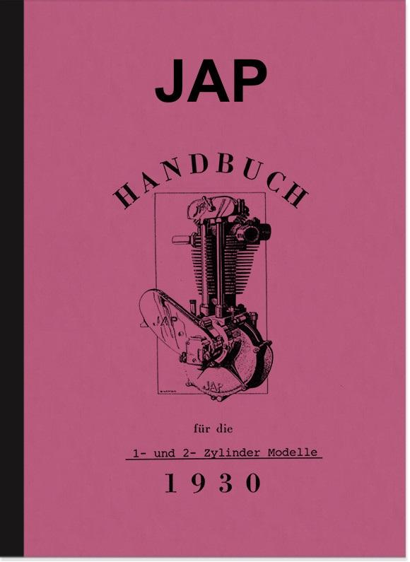 JAP Motoren 175 200 300 350 400 500 550 600 750 ccm Bedienungsanleitung Betriebsanleitung Handbuch