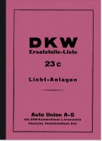 DKW ignition systems lighting systems spare parts list (SB 200 KM 200 SB 350 SB 500 Block 200 Block
