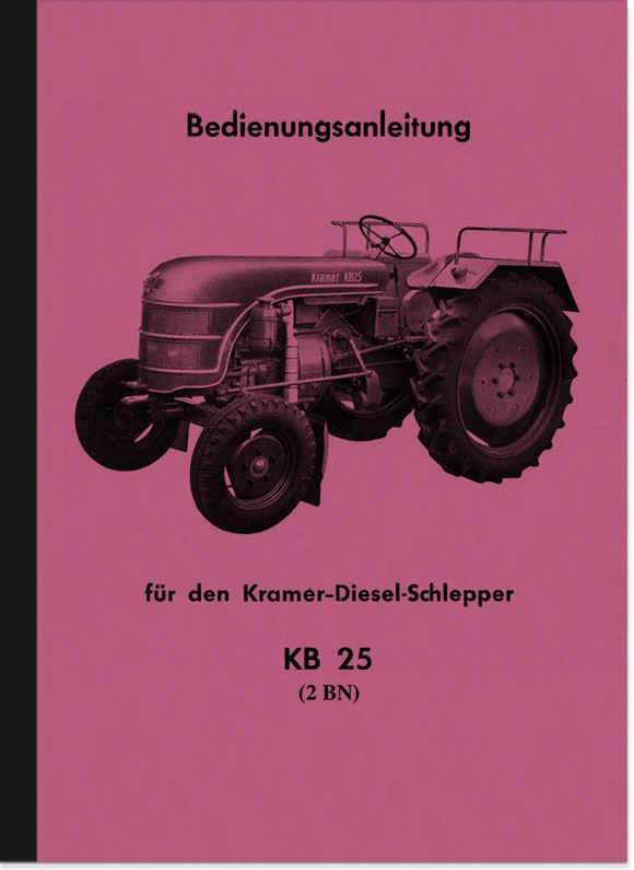 Kramer KB 25 Operating Instructions Operating Instructions Manual KB25 Tractor