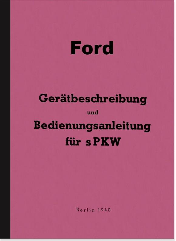 Ford V8 3,6 ltr. Bedienungsanleitung Betriebsanleitung Handbuch Wehrmacht WH EGa EGb EGd