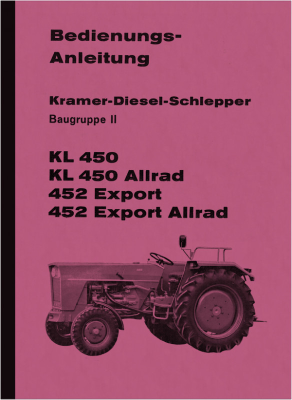 Kramer KL 450 and 452, Export All Wheel Drive Manual Manual