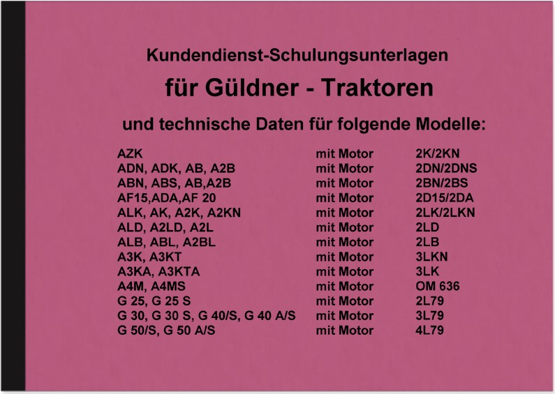 Güldner Description Manual AKZ ADN AB2B ABN ADA ALK AK AF ABL G ALD 30 40 50