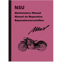 NSU Max Standard, Special, Super Maintenance Manual Manuel de Reparation Repair Manuals