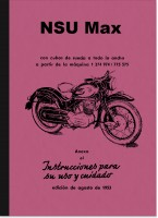 NSU Max Instrucciones de uso Manual Español Spanish Spanish Operating Manual
