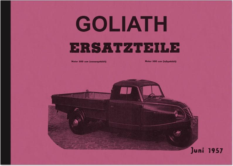 Goliath Goli Kleinlastwagen Ersatzteilliste Ersatzteilkatalog Teilekatalog