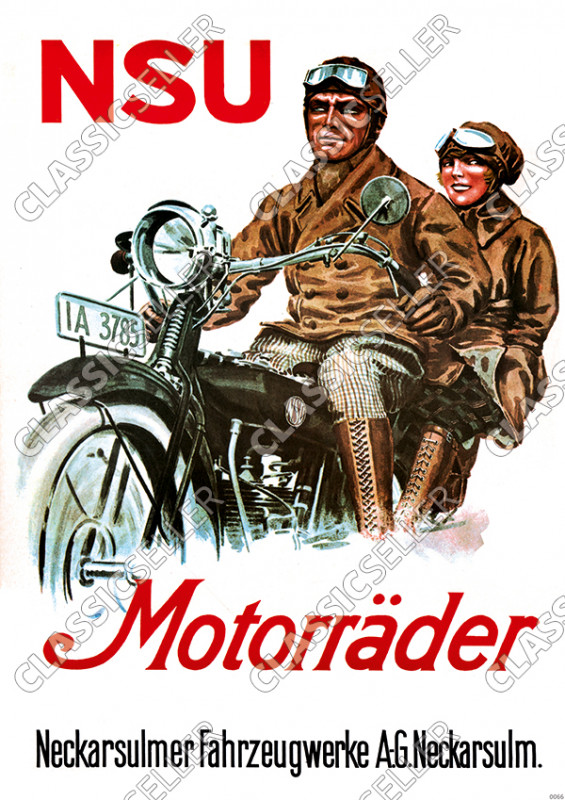 NSU Motorcycles Motorcycle Poster Picture