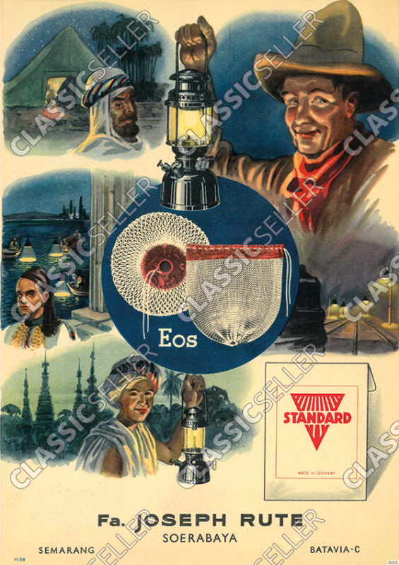Joseph Rute Petroleum Lamps (Summit, Jansen) Standard Eos 1938 Advertising Poster Picture