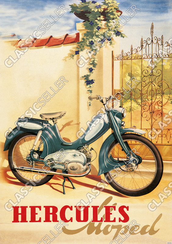 Hercules Type 217 moped Poster Picture