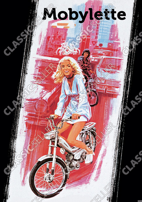 Motobécane Mobylette Moped Poster Picture