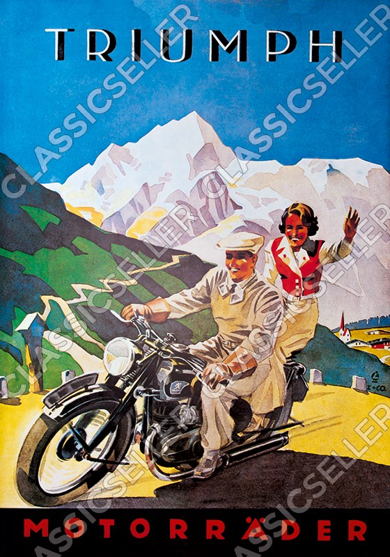Triumph motorcycle motorcycles Poster Picture