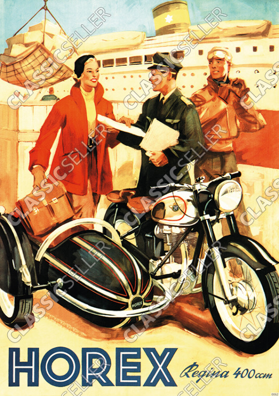 Horex Regina 400ccm motorcycle sidecar Poster Picture