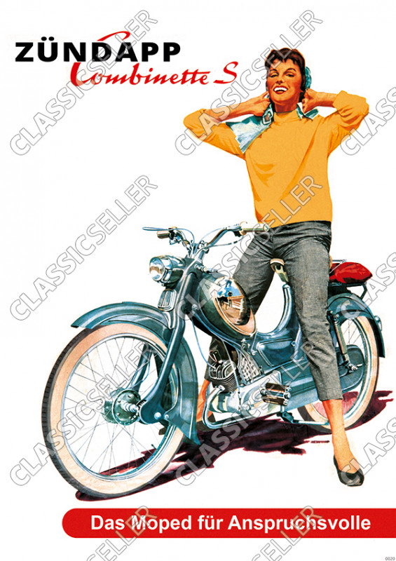Zündapp Combinette S Moped Poster Picture