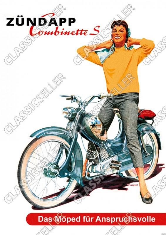Zündapp Combinette S Moped Poster Plakat Bild