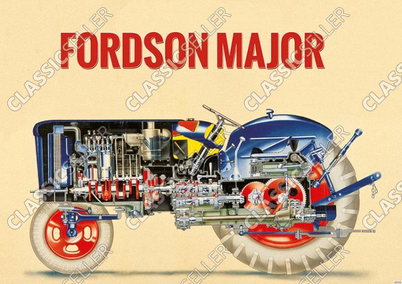 Fordson Major Traktor Schlepper Poster Plakat Bild