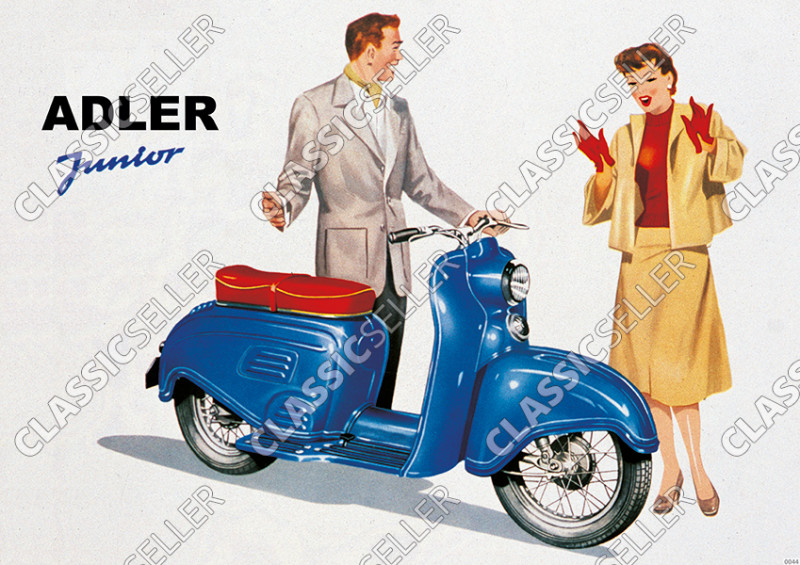 Adler Junior Scooter Poster Picture