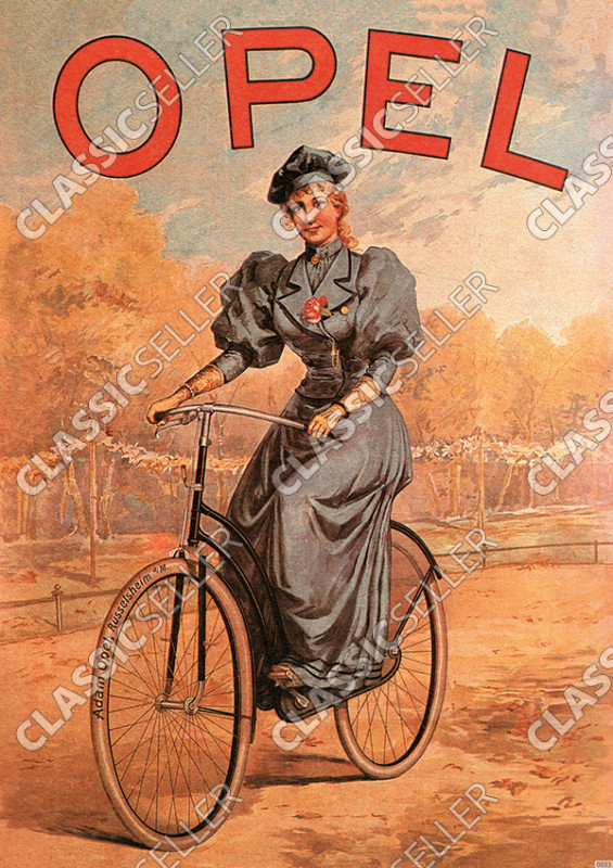 Opel bicycle bicycles prewar Poster Picture