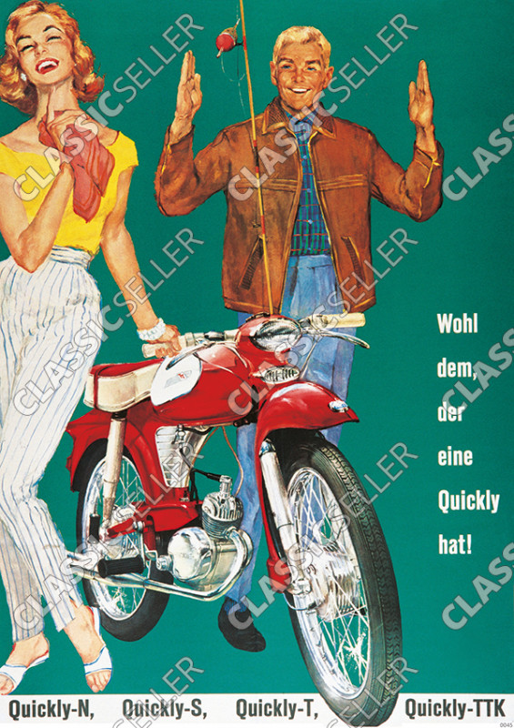 NSU Quickly N S T TTK moped Poster Picture
