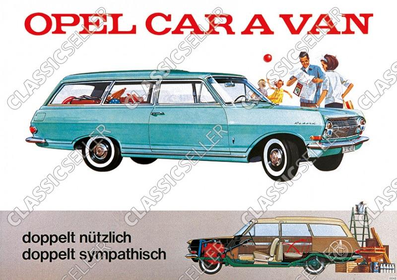 Opel Rekord Caravan Poster Picture