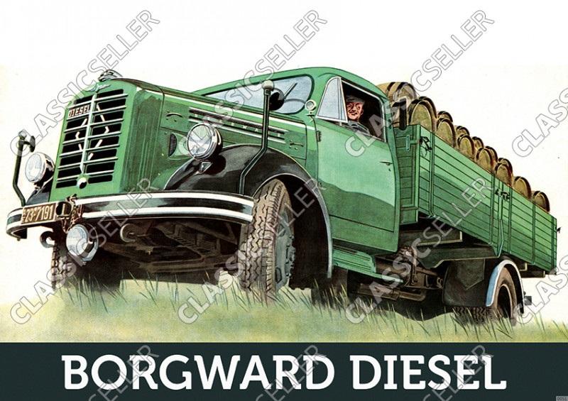 Borgward 4 To Diesel LKW Lastwagen Nutzfahrzeug Poster Plakat Bild