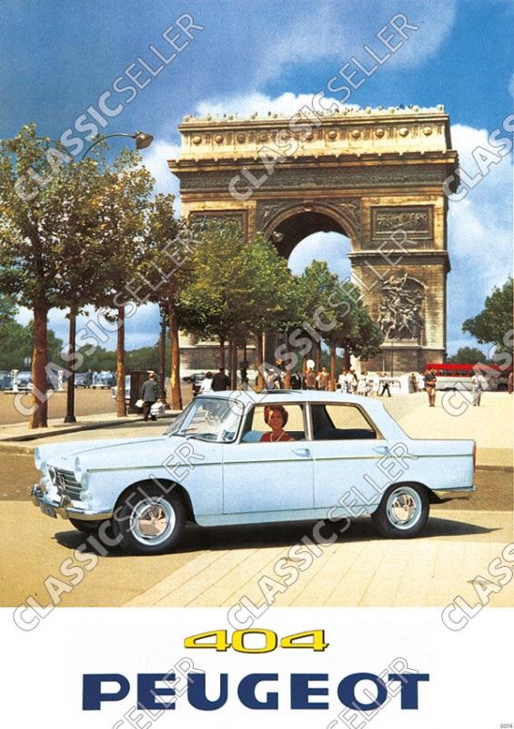 Peugeot 404 PKW Auto Poster Plakat Bild