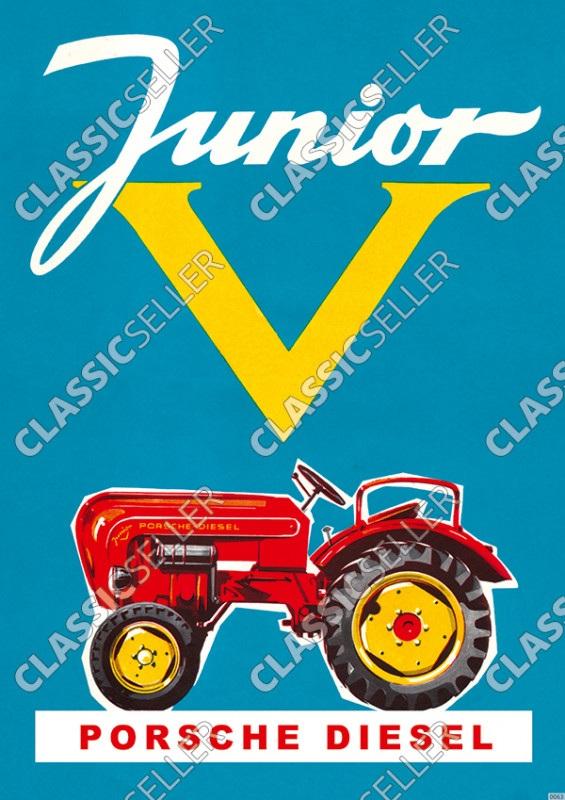 Porsche-Diesel Junior Schlepper Traktor Poster Plakat Bild