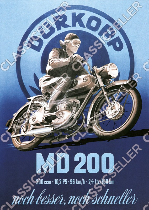 Dürkopp MD 200 motorcycle Poster Picture