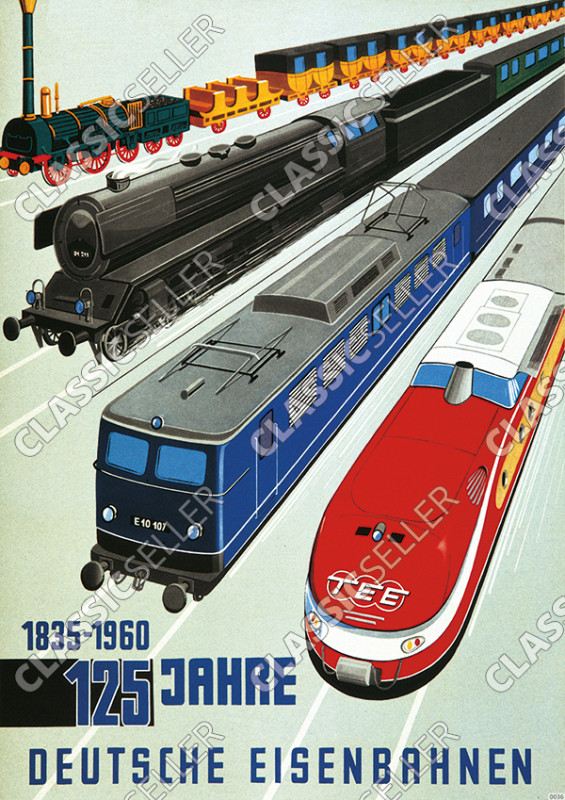 125 years German Railways 1835-1960 German Railway Poster Picture Number 2
