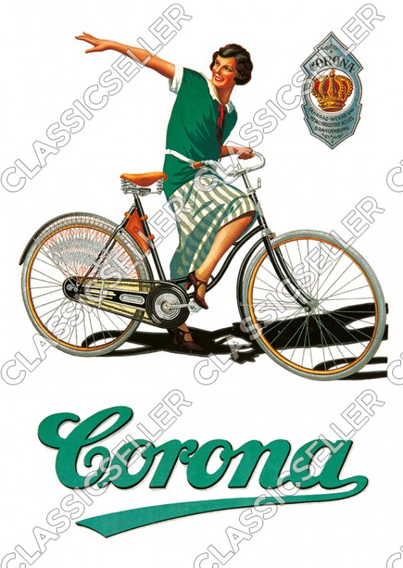 Corona Bicycle Bicycles Poster Image Advertising