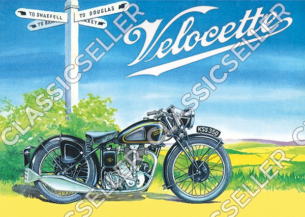 Velocette Motorcycle Motorcycle Poster Picture