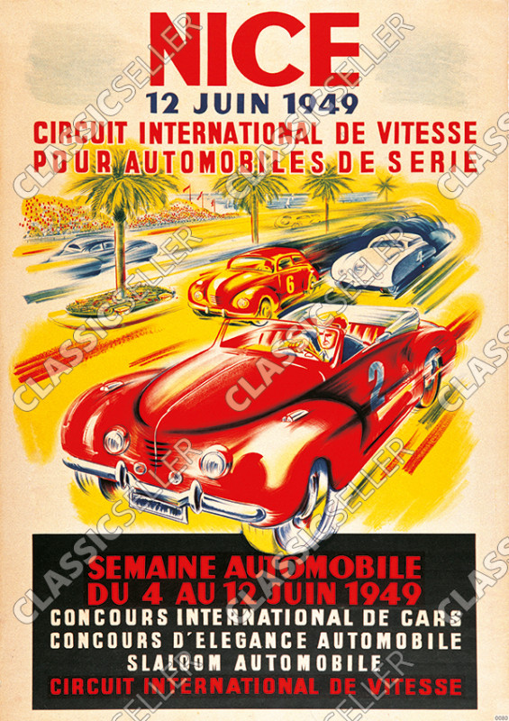 "NICE 1949 Veranstaltung Event ""Circuit International de Vitesse"" Poster Plakat Bild"
