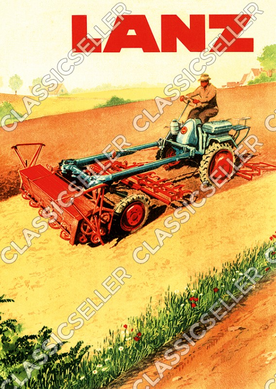 Lanz single axle tractor Diesel Poster Picture