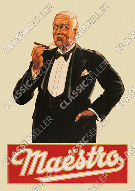 Maestro cigars Poster Picture advertising advertising cigars sigars