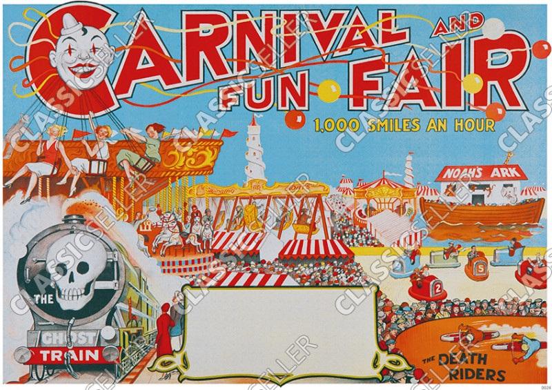 Funfair circus Poster Picture circus carnival funfair fair carnival variety