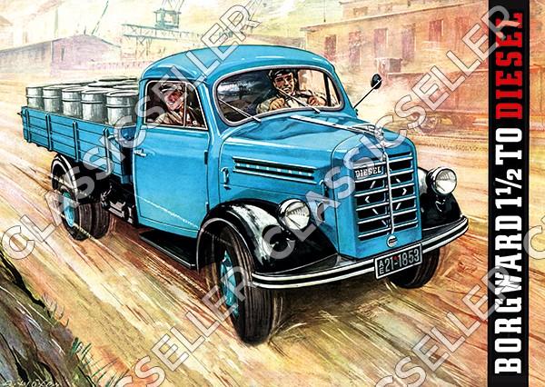 Borgward 1,5t To LKW Lastwagen Diesel Poster Plakat Bild