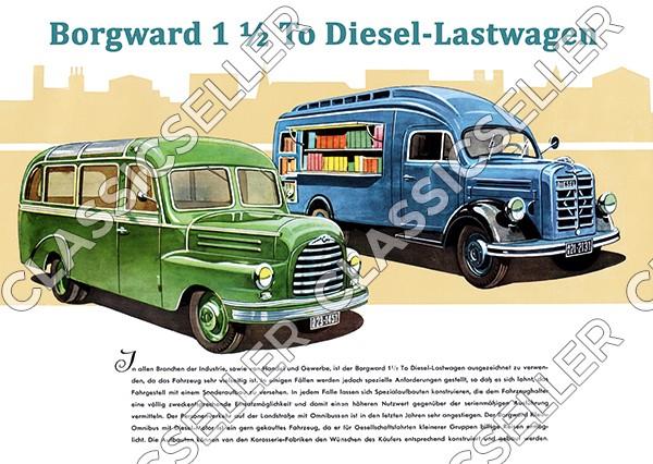 Borgward 1,5t To LKW Diesel-Lastwagen Poster Plakat Bild