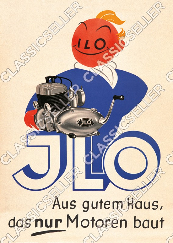 ILO Motoren Poster Plakat Bild Werbung Reklame