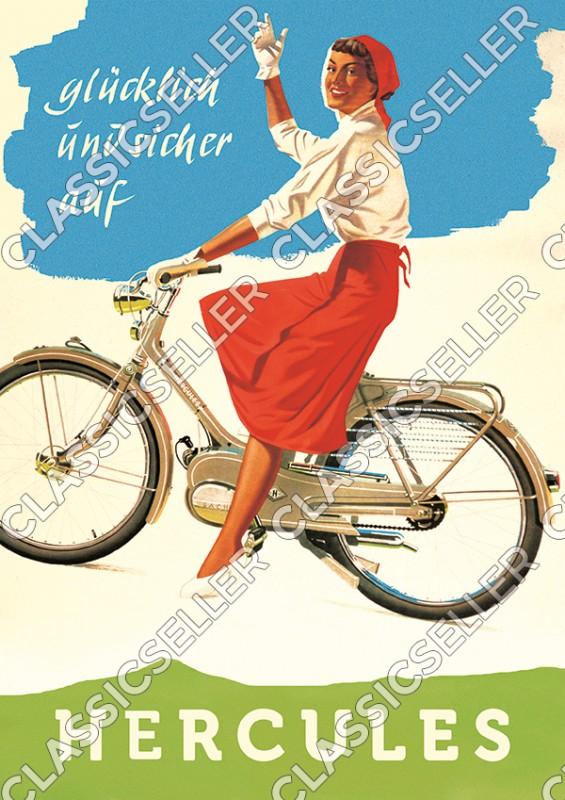 Hercules Moped Mofa 25 50 Typ 215 217 219 220 1 2 Poster Plakat Bild