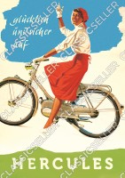 Hercules Moped Mofa 25 50 type 215 217 219 220 1 2 Poster Picture