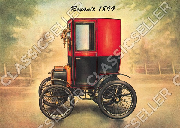 Renault 1899 Voiturette Type B Oldtimer Smart Poster Picture