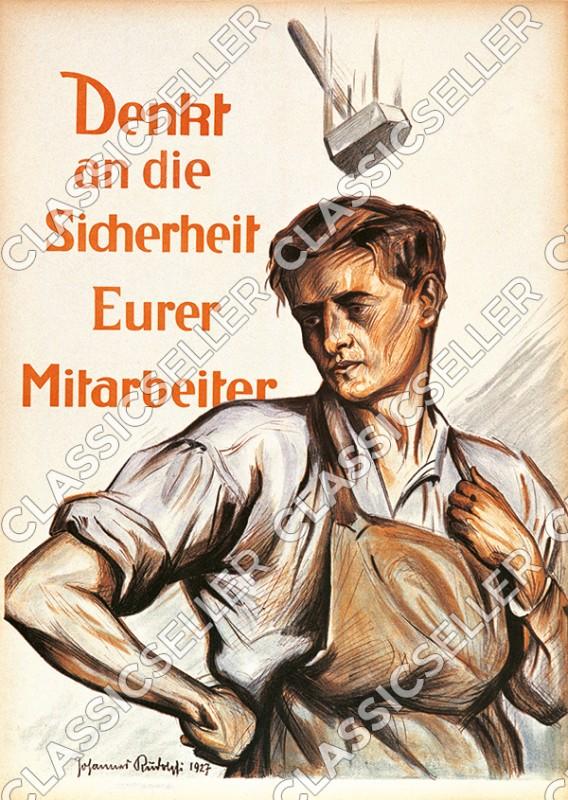 Arbeitsschutz Sicherheit Sicherheitshinweis Poster Plakat Warnung Hinweis - Motiv 1