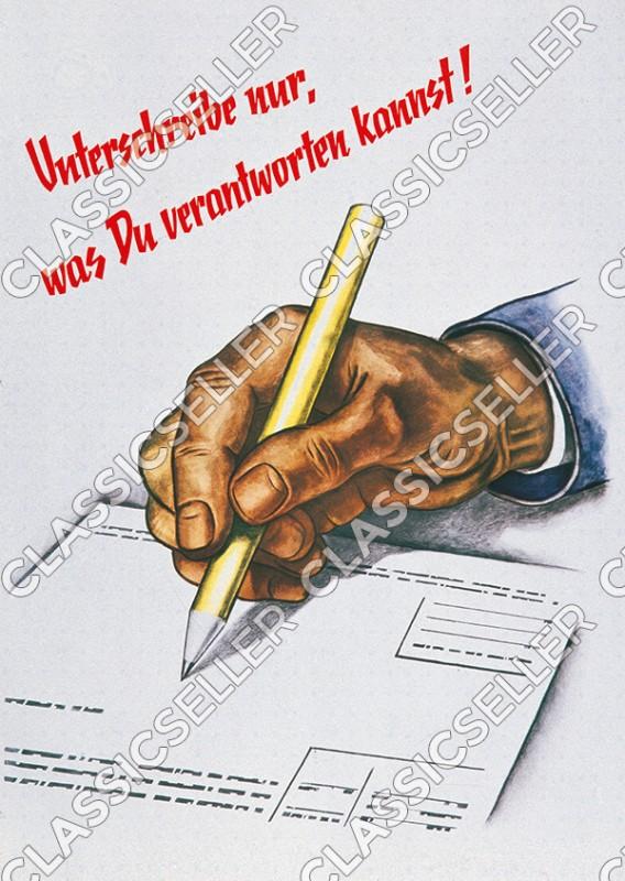 Arbeitsschutz Sicherheit Sicherheitshinweis Poster Plakat Warnung Hinweis - Motiv 4
