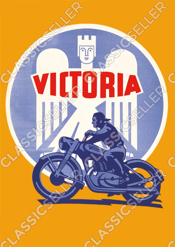 Victoria Motorcycle Motorcycles KR 1 2 3 6 7 8 25 26 35 50 S N Sport Poster Picture