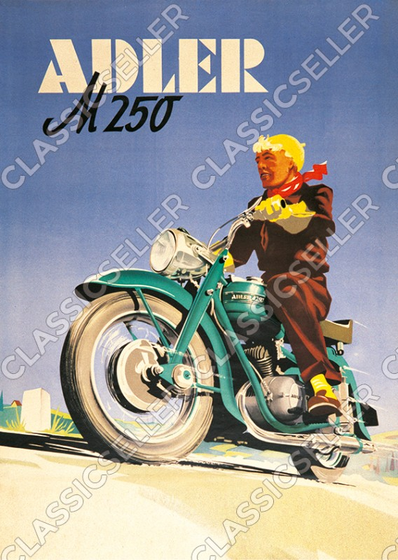 Eagle M 250 motorcycle Poster Picture