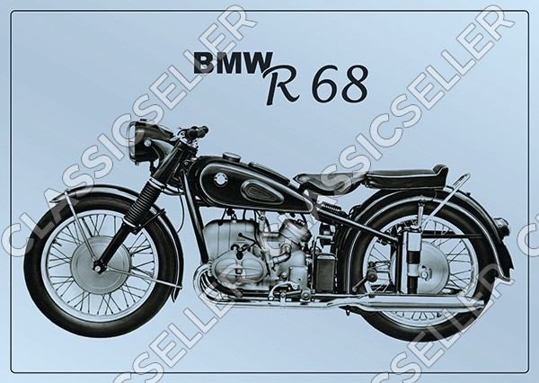 BMW R 68 R68 Motorcycle Poster Picture art print