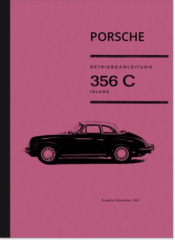 Porsche 356 C Operating Instructions Manual
