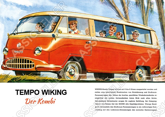 "Tempo Wiking ""The Station Wagon"" Car Car Poster Image"