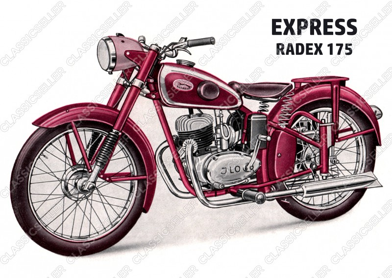 Express Radex 175 Motorrad Poster Plakat Bild