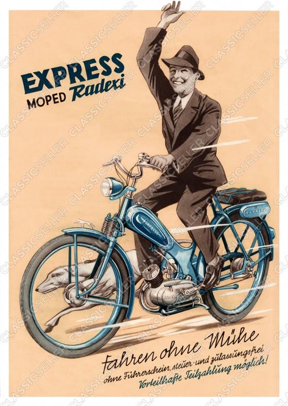 Express Radexi Moped Poster Plakat Bild