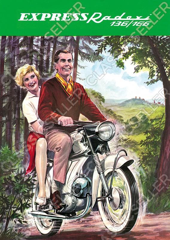 Express Radexi 136 166 Motorrad Poster Plakat Bild