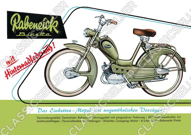 Rabeneick Binetta Moped Poster Plakat Bild